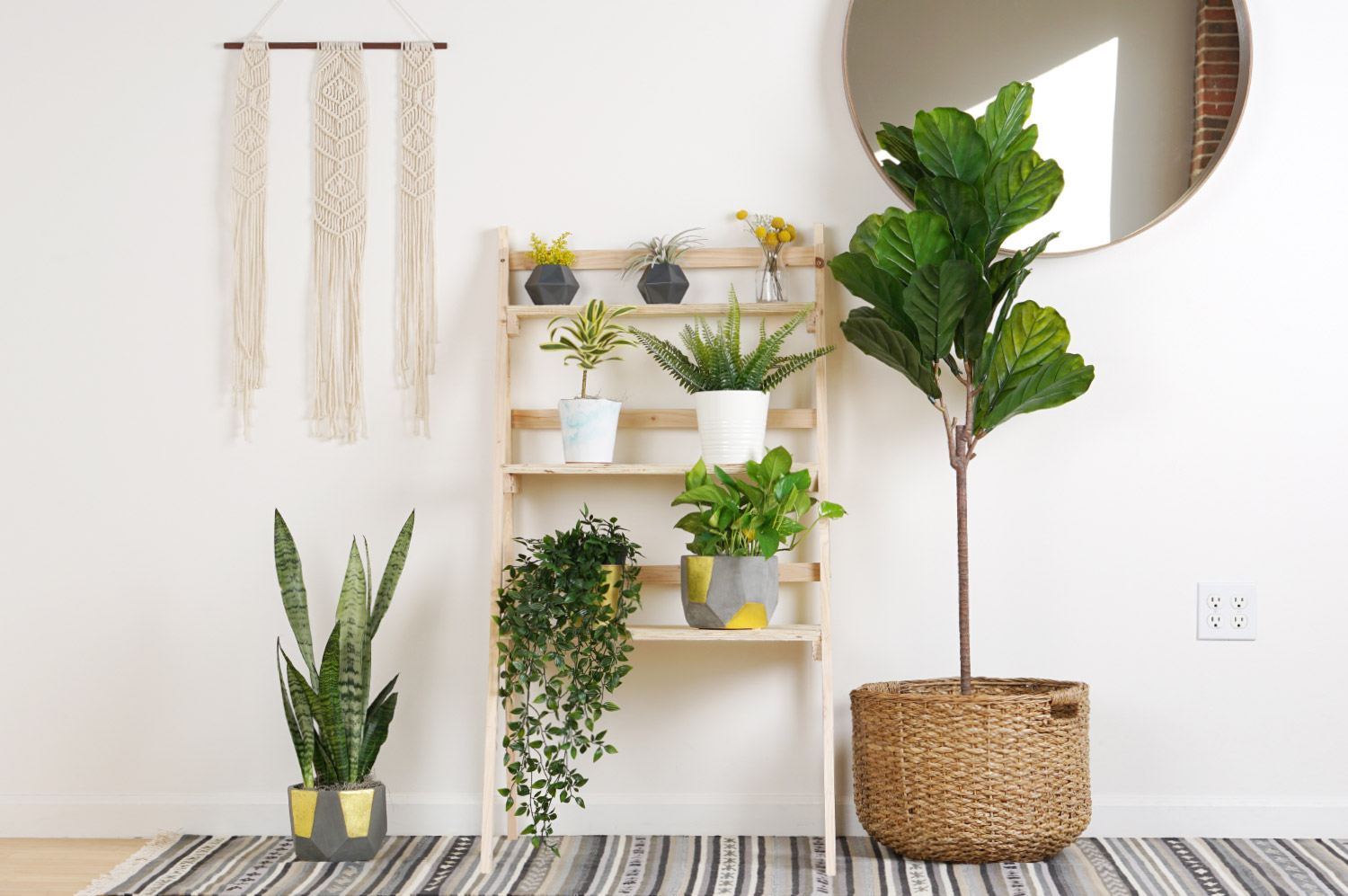 Create A Ladder Plant Stand To Spruce Up Your Home For Spring