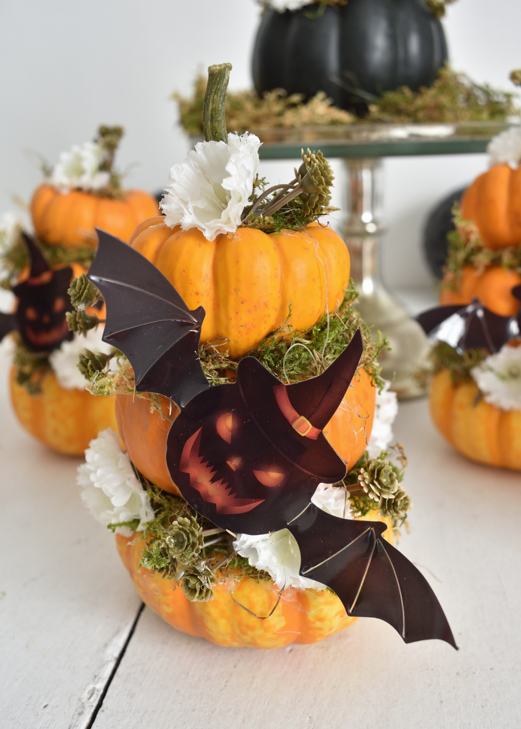 Mini Pumpkin Topiary Tutorial For Creating Cute Halloween Decorations